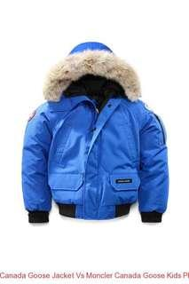 Blue canada goose bomber jacket size L