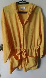 Yellow Soft Fabric Parka