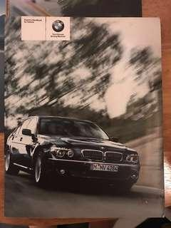 BMW E66 E65 730Li 740Li 750Li User Owner Owner's Manual