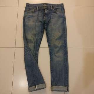 Uniqlo Jeans Slim Straight Selvedge