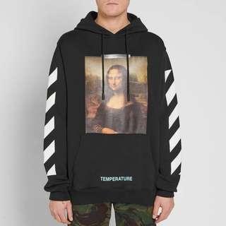Off White Mona Lisa Pullover Black Hoodie [XXS.XS.S.M]