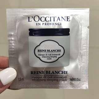 Loccitane whitening sleeping mask sample size