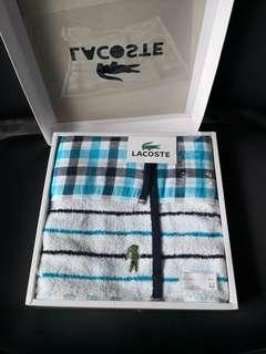 Lacoste blue small towel
