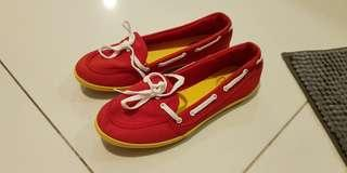 Red Sneakers Canvas Shoes