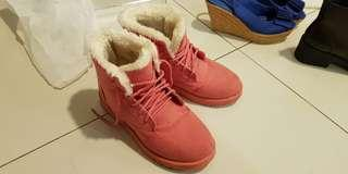 Pink Winter Boots Shoes