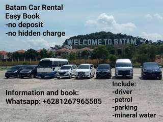 Car rental batam with private driver tour