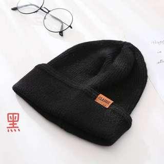 冬季加厚皮標毛帽