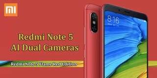 【FLAME RED】Xiaomi Redmi Note 5 AI Dual Camera 4GB/64GB