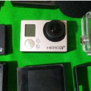 Go Pro 3+ Plus  Silver  with Extras  Included