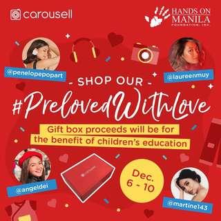 Buy a #PrelovedwithLove box from Carousell PH
