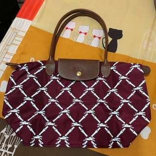 🚚 Longchamp 紫色限定長柄 M 背包