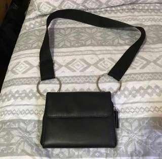 Black O-Ring Belt Bag