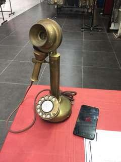 GEC candle stand phone vintage