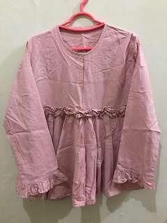 Pink blouse katun