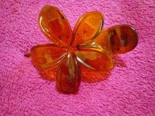 FREE BROWN HAWAIIAN FLOWER HAIR CLIP (see details below)