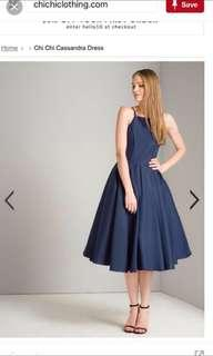 Chi Chi London Cassandra Navy Dress