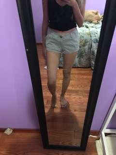 Hollister Olive Shorts size 0