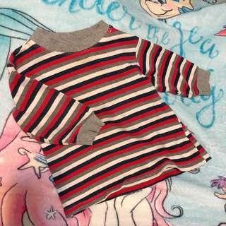 間條長袖衫