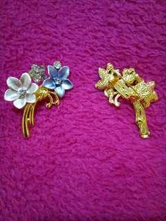 👯VIOLET FLOWER BROOCH