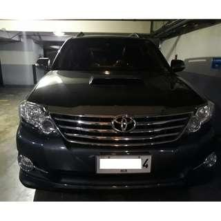 2015 Toyota Fortuner 2.5G Black Automatic