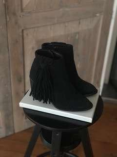 Zara suede boots size 36