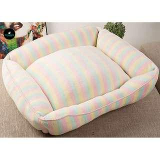 🚚 Pet Dog Cat Colorful Strip Bed Cushion