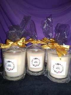 Aroma therapy scented candle