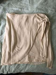 Dissh Nude Wrap Up Skirt