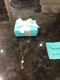 "Tiffany Blue Enamel Key on 18"" chain. New condition. Price is firm!"