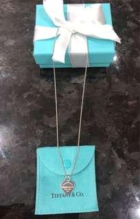 Tiffany Heart Tag pendant chain. Perfect condition. Price is firm.