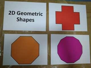 2D geometric shapes flashcards - Glenn Doman and Shichida