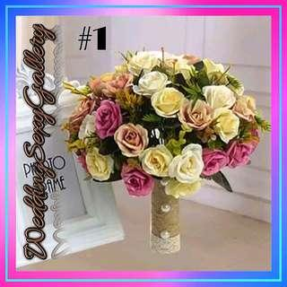 🚚 #[30]🌹◾🅿🅾◾🌹Purple White Wedding Bouquet Handumade Artificial Flower Rose buque casamento Bridal Bouquet for Wedding Decoration 2018
