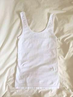 Country road white stretchy singlet