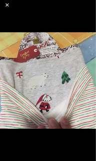 🎄瑪莎 聖誕口水肩 厚綿 2條
