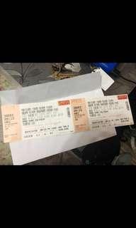 劉德華演唱會12月30號, $980門票,內部員工飛,第六行, 63區,