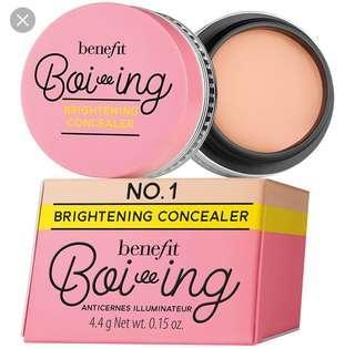Boiing Brightening Concealer- Shades #1,2,3,4,5,6 - Benefit Cosmetics