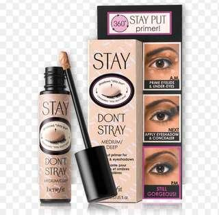 Eyelid and concealer primer- shade med/deep- Benefit Cosmetics Stay Don't Stray