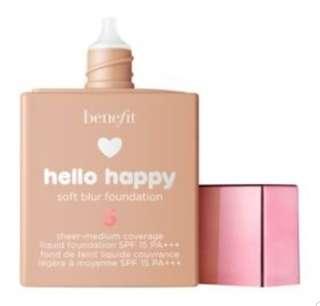 Hello happy soft blur foundation- shade #5- benefit Cosmetics