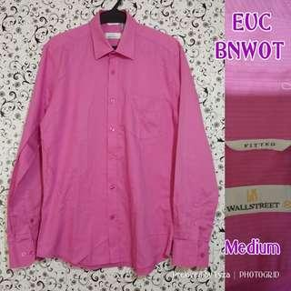 Pink long sleeves polo