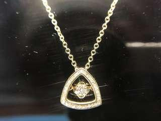 Dancing Diamond Pendant in 14KY (chain not included)