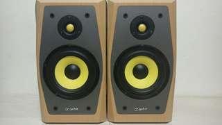 🚚 丹麥品牌 加拿大製造?台灣製造? 書架 喇叭 ALPHA A 25S 4歐姆 有分音器 二音路 聲音超值