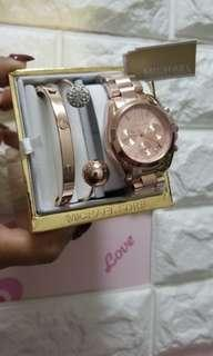 3 in 1 Mk watch& 2 bangles