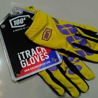 New 100% iTrack Glove M Size for Mountains Bike Bicycle