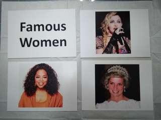 Famous women flashcards - Glenn Doman and Shichida