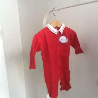 NEW Red Sleepsuit for Baby sz 3-6m