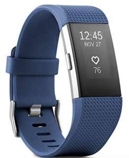 Fitbit Charge 2 2017 Blue Band Fitness Watch