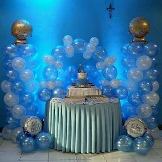 Baptismal Balloon Arrangement