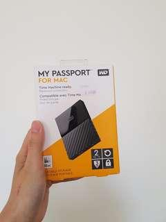 BRAND NEW Western Digital 2TB Hard Drive for Mac