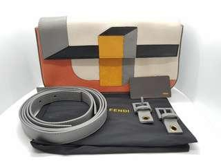 AUTHENTIC FENDI SPRING-SUMMER 2013 3D COLORBLOCK RUNWAY BAGUETTE / CLUTCH / CROSS BODY / SHOULDER BAG – VERY RARE