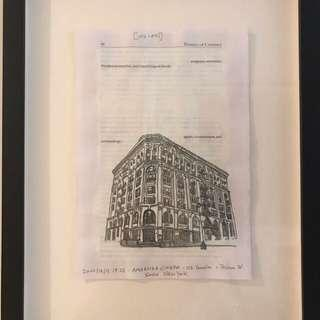 Moving Sale - Charles LaBelle Drawings of New York Cinema